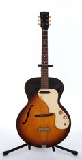 Musical Instruments:Electric Guitars, Vintage Gibson ES-120T Sunburst Archtop Electric Guitar #128865....