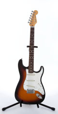 Musical Instruments:Electric Guitars, Mid 1980s Fender Stratocaster American Sunburst Electric Guitar#E453113....