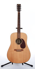 Musical Instruments:Acoustic Guitars, 2002 Martin DR Dreadnought Natural Acoustic Guitar, Serial #88234S....