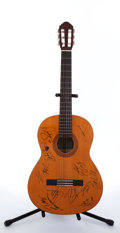 Musical Instruments:Acoustic Guitars, Recent Yamaha Eterna Autographed Natural Acoustic Guitar....