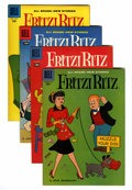 Silver Age (1956-1969):Humor, Fritzi Ritz #56-59 File Copies Group (Dell, 1958) Condition: Average NM-.... (Total: 4 Comic Books)