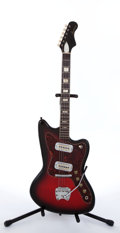 Musical Instruments:Electric Guitars, 1960s Harmony Silhouette H-19 Cherry Burst Electric Guitar....