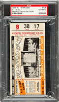 "Baseball Collectibles:Tickets, 1958 Major League Baseball All Star Game Ticket Stub, PSA""Authentic""...."