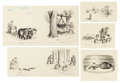 Mainstream Illustration, GARTH WILLIAMS (American, 1912-1996). Little House in the BigWoods, set of five: The Sugar Snow, Wooden Buckets and Littl...