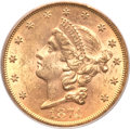 Liberty Double Eagles, 1874-S $20 MS62 PCGS. CAC....