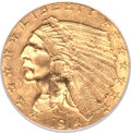 Indian Quarter Eagles, 1914 $2 1/2 MS64+ PCGS. CAC....