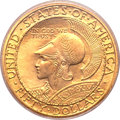 Commemorative Gold, 1915-S $50 Panama-Pacific 50 Dollar Round MS64 PCGS....