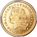 Proof Four Dollar Gold Pieces, 1879 $4 Flowing Hair, Judd-1635, Pollock-1833, R.3, PR65 Cameo NGC.. ...