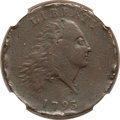 Large Cents, 1793 Chain 1C AMERICA -- Rim Damage -- NGC Details. VF. S-3, B-4,Low R.3....
