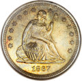 Seated Quarters, 1867-S 25C MS63 ANACS....