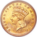 Proof Gold Dollars, 1882 G$1 PR66 Cameo PCGS....
