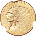 Proof Indian Quarter Eagles, 1914 $2 1/2 PR67 NGC....