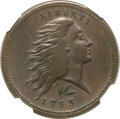 Large Cents, 1793 1C Wreath Cent, Vine and Bars VF30 NGC. S-11a, B-16a, HighR.4....