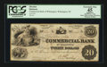 Obsoletes By State:North Carolina, Wilmington, NC- Commercial Bank $20 Feb. 1, 1861 G14a. ...