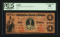 Canadian Currency: , Toronto- CW Colonial Bank of Canada $4 May 4, 1859 Ch. #130-10-04-08. ...