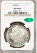 Morgan Dollars, 1878 8TF $1 MS65 Prooflike NGC. CAC. VAM-2....