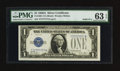 Small Size:Silver Certificates, Solid Serial Number Seven Fr. 1601 $1 1928A Silver Certificate. PMG Choice Uncirculated 63 EPQ.. ...