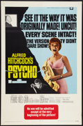 "Movie Posters:Hitchcock, Psycho (Paramount, R-1969). One Sheet (27"" X 41""). Hitchcock.. ..."