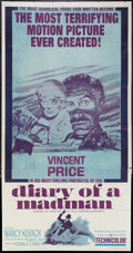 """Movie Posters:Horror, Diary of a Madman (United Artists, 1963). Three Sheet (41"""" X 81"""").Horror.. ..."""