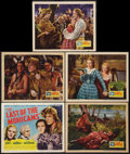 "Movie Posters:Adventure, The Last of the Mohicans (United Artists, 1936). Title Lobby Cardand Lobby Cards (4) (11"" x 14""). Adventure.. ... (Total: 5 Items)"