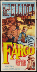 "Movie Posters:Western, Fargo (Monogram, 1952). Three Sheet (41"" X 81""). Western.. ..."