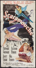 """Movie Posters:Swashbuckler, Scaramouche (MGM, 1952). Three Sheet (41"""" X 81""""). Swashbuckler.. ..."""
