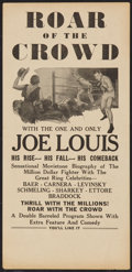 """Movie Posters:Sports, Roar of the Crowd (Norman, 1953). Herald ( 6"""" x 12.5""""). Sports.. ..."""
