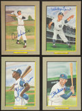 Baseball Collectibles:Others, Baseball Hall of Famers Signed Perez Steele Cards Lot of 4....