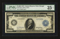Large Size:Federal Reserve Notes, Fr. 1133-G $1000 1918 Federal Reserve Note PMG Very Fine 25 Net.. ...