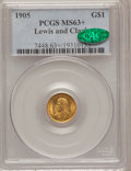 Commemorative Gold, 1905 G$1 Lewis and Clark MS63+ PCGS. CAC....