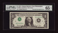 Error Notes:Inverted Third Printings, Fr. 1908-C $1 1974 Federal Reserve Note. PMG Gem Uncirculated 65EPQ.. ...
