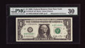 Error Notes:Mismatched Serial Numbers, Fr. 1932-B* $1 2006 Federal Reserve Note. PMG Very Fine 30.. ...