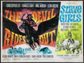 """Movie Posters:Horror, The Devil Rides Out/Slave Girls Combo (Warner-Pathé, 1968). British Quad (30"""" X 40""""). Horror.. ..."""