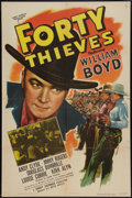 """Movie Posters:Western, Forty Thieves (United Artists, 1944). One Sheet (27"""" X 41""""). Western.. ..."""