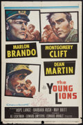 """Movie Posters:War, The Young Lions (20th Century Fox, 1958). One Sheet (27"""" X 41"""").War.. ..."""