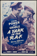 """Movie Posters:War, A Yank in the R.A.F. Lot (20th Century Fox, R-1953). One Sheets (2)(27"""" X 41""""). War.. ... (Total: 2 Items)"""