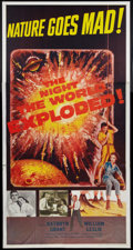 "Movie Posters:Science Fiction, The Night the World Exploded! (Columbia, 1957). Three Sheet (41"" X 81""). Science Fiction.. ..."