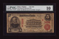 National Bank Notes:Virginia, Onley, VA - $5 1902 Red Seal Fr. 587 The Farmers & Merchants NBCh. # (S)7258. ...
