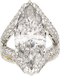 Diamond, Platinum, Gold Ring, Moyer