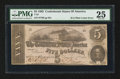 Confederate Notes:1862 Issues, T53 $5 1862 PF-4 Cr. 384.. ...