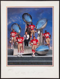 Football Collectibles:Photos, San Francisco 49ers Champions Multi Signed Print....