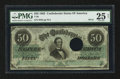 Confederate Notes:1862 Issues, T50 $50 1862 PF-18 Cr. 361A HOC.. ...