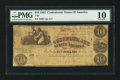 Confederate Notes:1861 Issues, T28 $10 1861 PF-7 Cr. 235.. ...