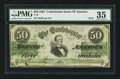 Confederate Notes:1861 Issues, T16 $50 1861 PF-13 Cr. 85.. ...