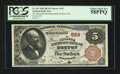 Boston, MA - $5 1882 Brown Back Fr. 467 The National Exchange Bank Ch. # 529