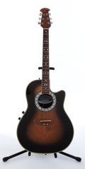 Musical Instruments:Acoustic Guitars, 1983 Celebrity By Ovation Sunburst Electric Acoustic Guitar#292267....