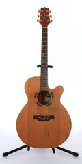Musical Instruments:Acoustic Guitars, 1993 Takamine ESF-93 Santa Fe Natural Electric Acoustic Guitar#93030660....