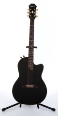 Musical Instruments:Electric Guitars, 2005 Epiphone SST Black Electric Guitar # EE05110784....