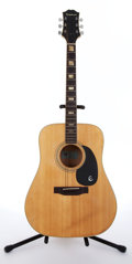 Musical Instruments:Acoustic Guitars, 1981 Epiphone FT350BL El Dorado Natural Acoustic Guitar #1141162....