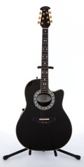 Musical Instruments:Electric Guitars, 1992 Ovation 1867 Legend Black Electric Acoustic Guitar, #433418....